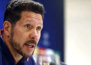 Diego Simeone técnico do Atlético de Madrid