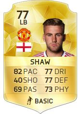 FIFA 16 Player luke Shaw