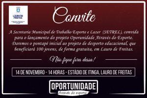 Convite Lauro de Freitas